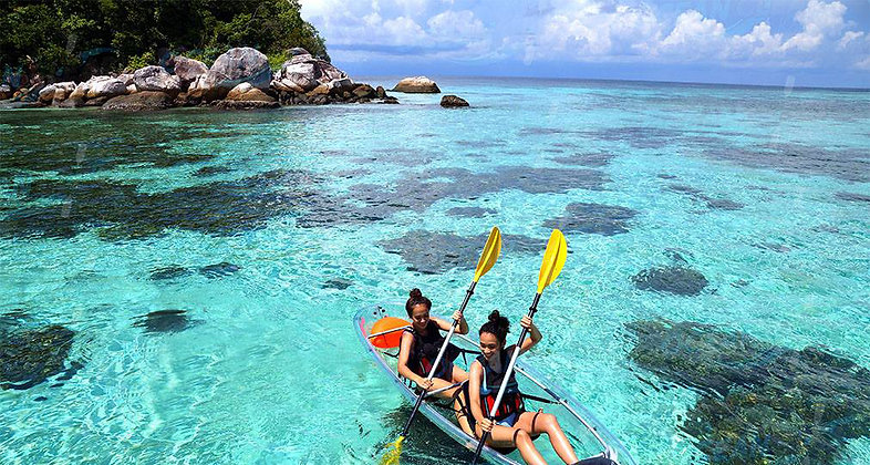 Double Seat Transparent Kayak