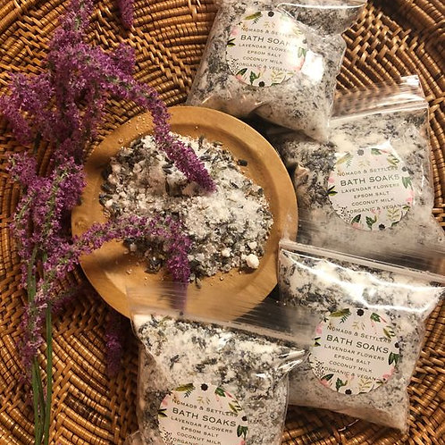 Organic Lavender Salt Soak