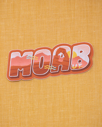 Moab Typography Sticker