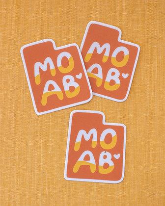 Moab Love Sticker