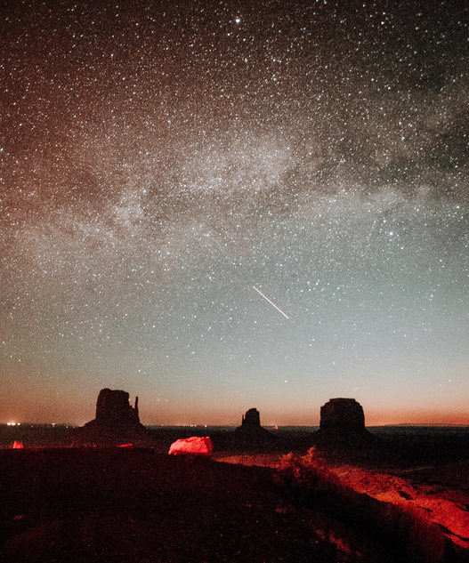 Milky Way Over The Buttes