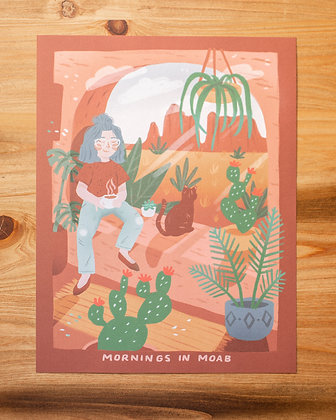 "Mornings In Moab 8.5x11"" Print"