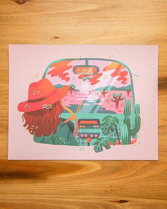 "Open Road 8.5x11"" Print"