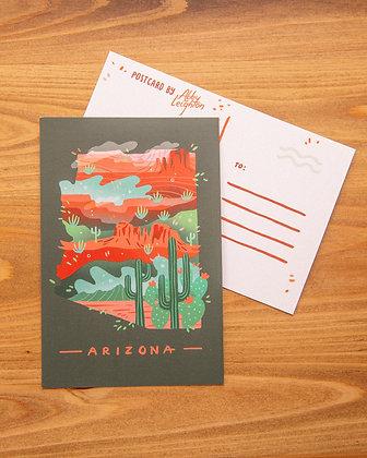 Arizona Illustrated Postcard