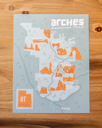 "Arches Map 8.5x11"" Print"