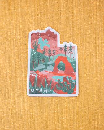 Utah Illustrated Sticker