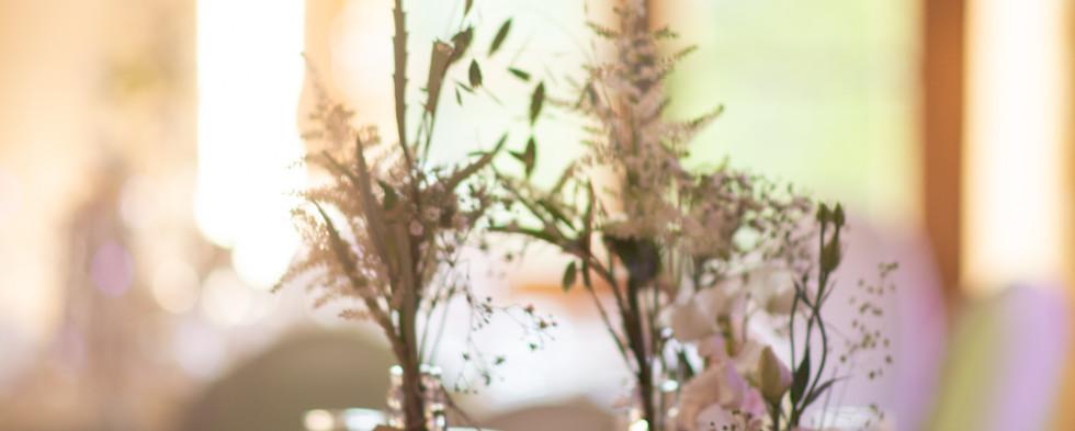 Fleurs centre de table mariage