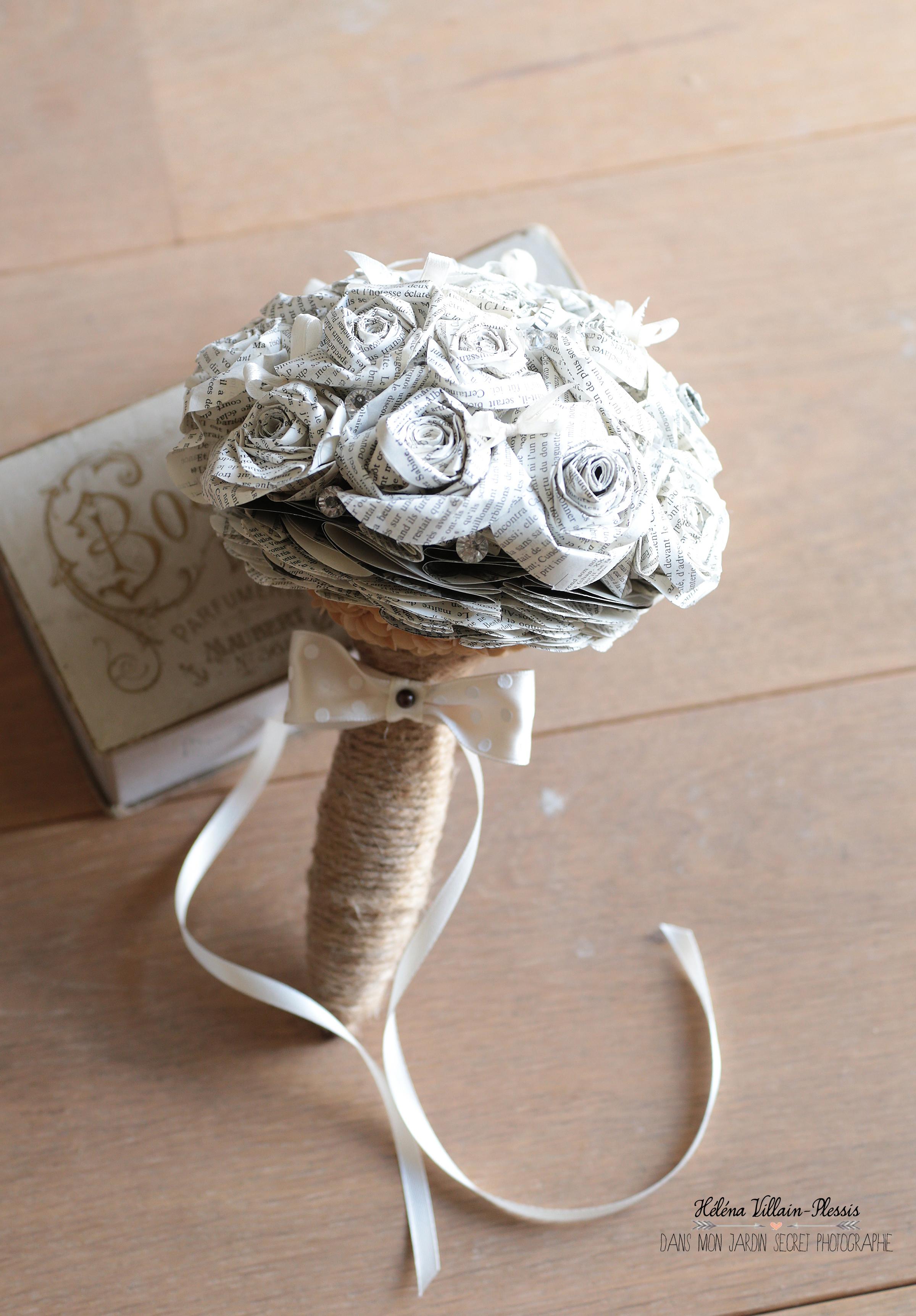Bouquet en fleurs papier