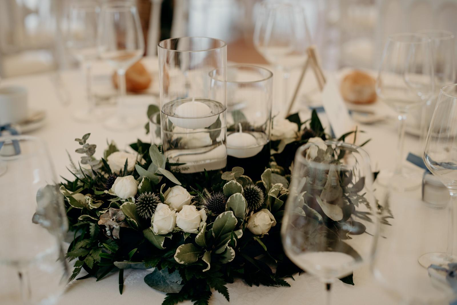 Mariage A&G centre de table 1