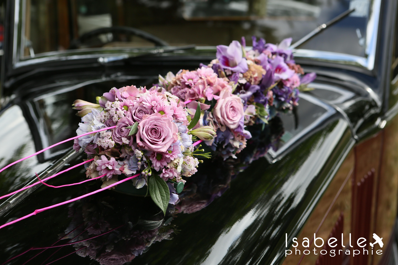 Décor voiture parme & lilas