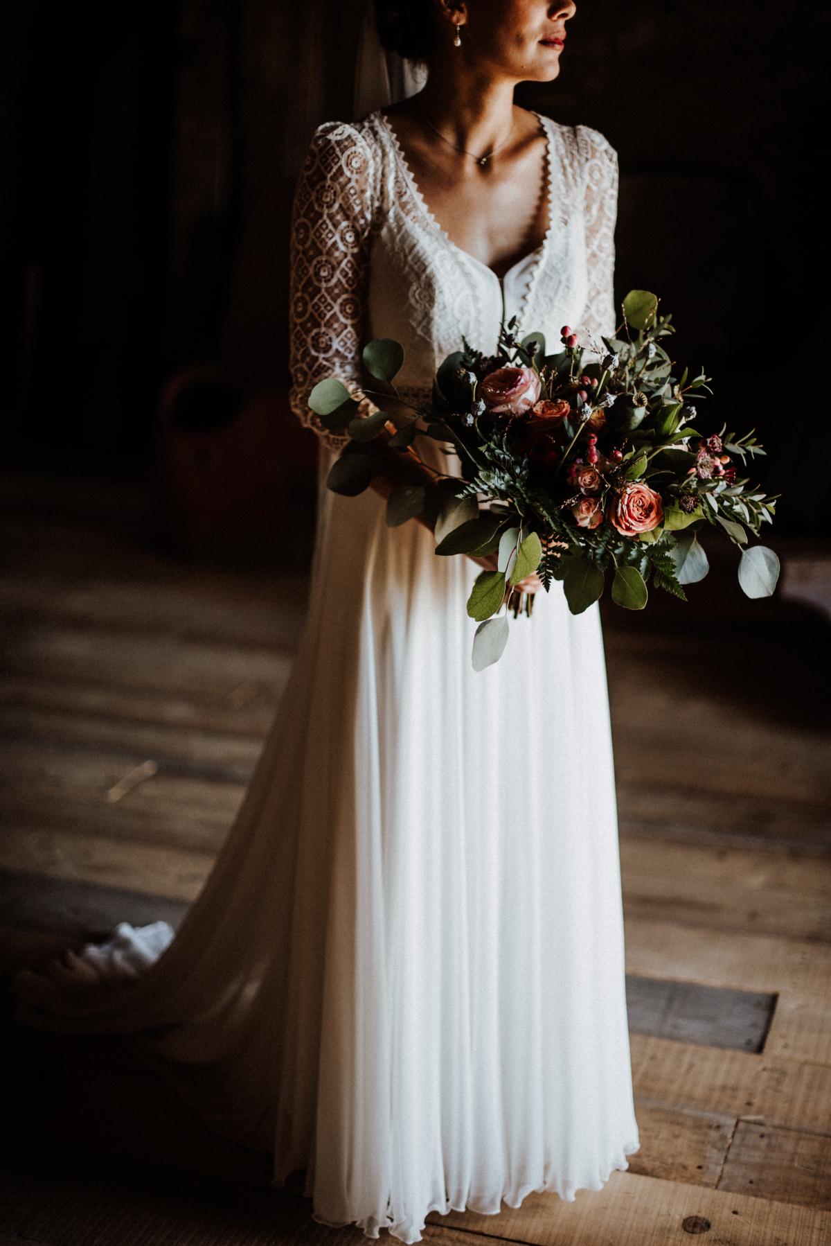 Mariée bohème fleuriste angers
