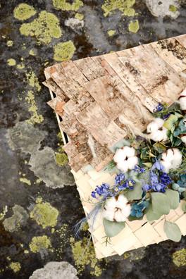 Coussin de deuil fleurs séchées