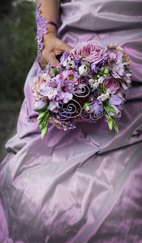 Bouquet mariée parme & baroque