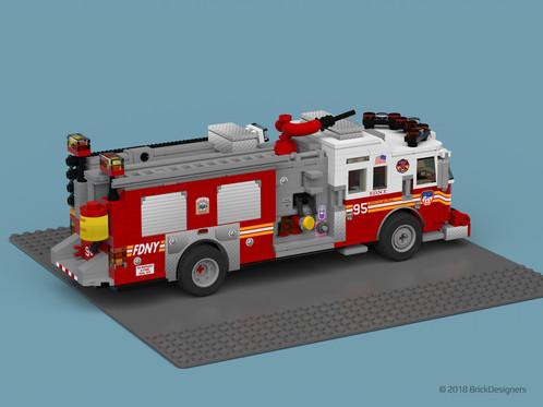 Lego Fire Truck Fdny Engine 95