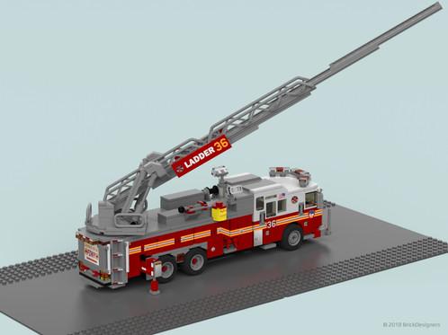 Fire Truck Fdny Ladder 36