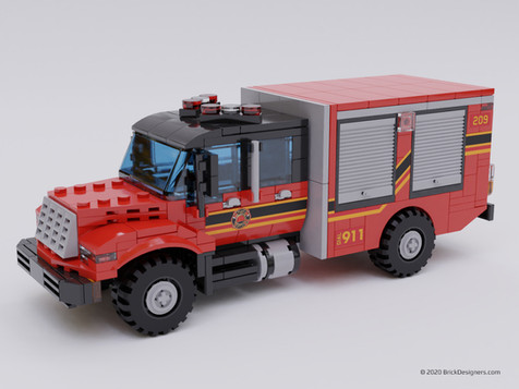 Heavy Brush Pumper Truck