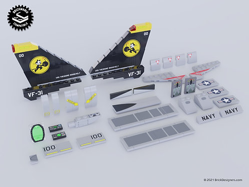 Printed Parts Pack - Supersonic Air Superiority Interceptor Parts Pack