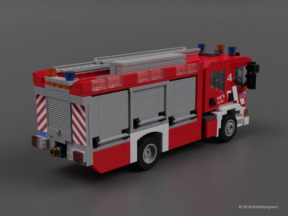 Scania P340 - Fire Engine | brickdesigners