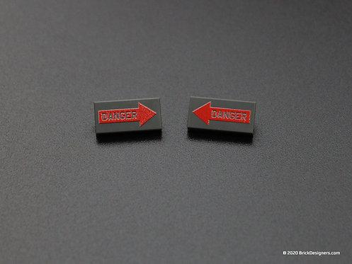 Printed Parts - Danger Sign (Pair)