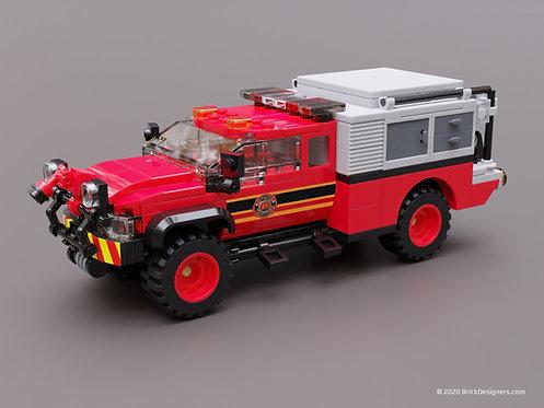Lego Brush Truck