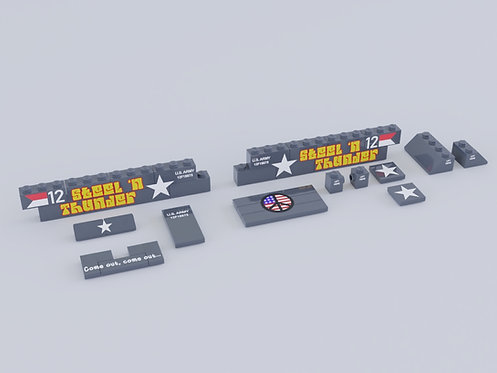 Printed Artwork - Armored Personnel Carrier Parts Pack
