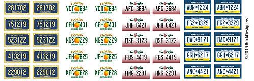 Lego License Plates
