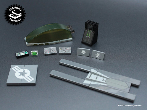 Printed Parts Pack - Stealth Fighter