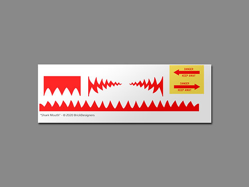 """""""Shark Mouth"""" Sticker Set"""