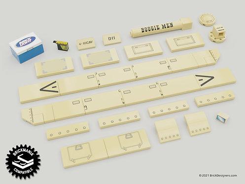 Printed Parts Pack - US Modern Tank