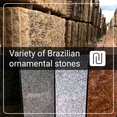Variety of Brazilian ornamental stones