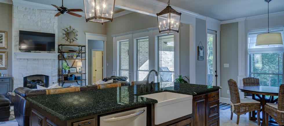 Butterfly granite kitchen