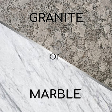 Differences between marble and granite