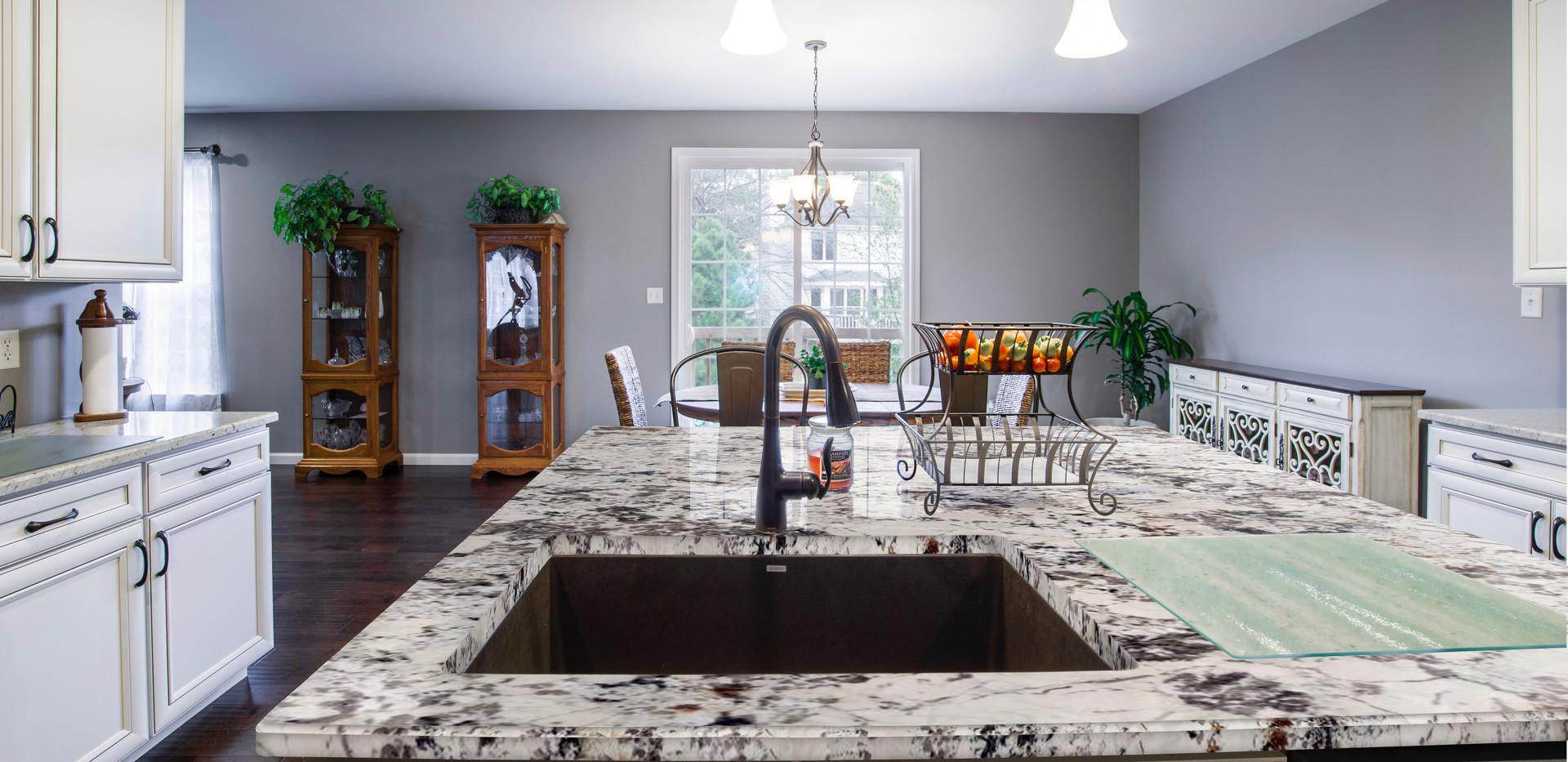 Blanc du Blanc granite countertop