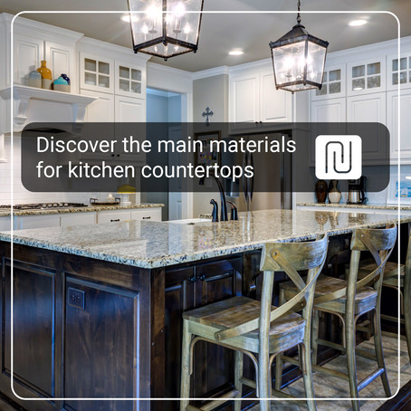 Discover the main materials for kitchen countertops