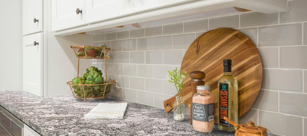Magnific White kitchen countertop