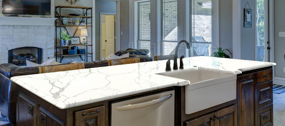 Calacatta Quartz kitchen countertop