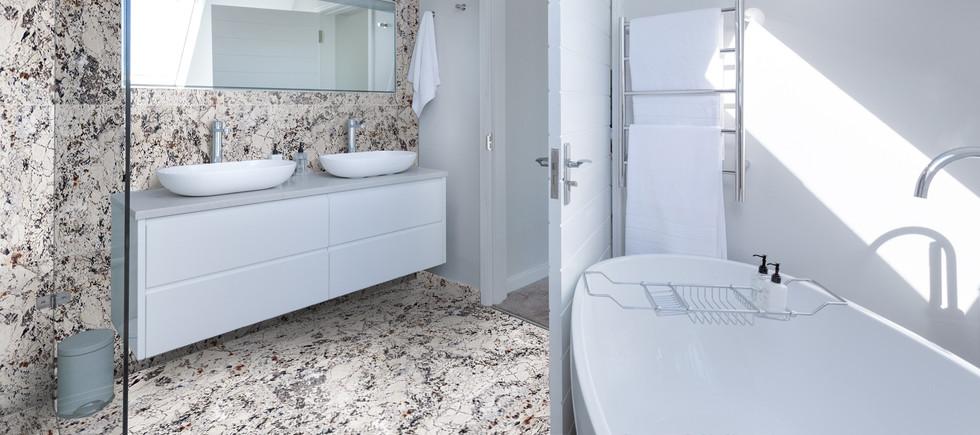 Blanc du Blanc granite bathroom