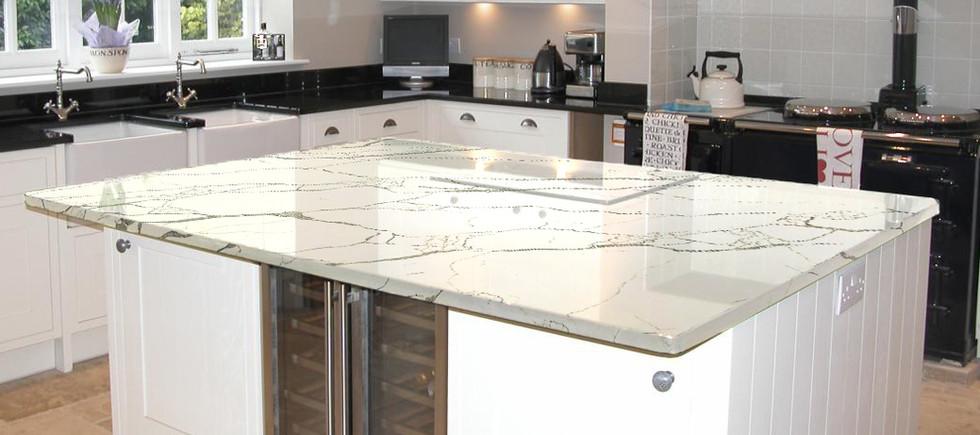 Calacatta Quartz countertop
