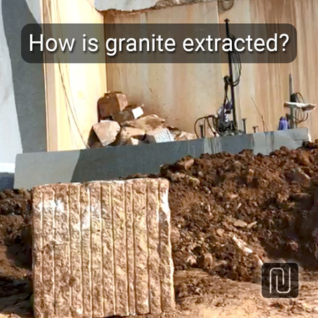 How is granite extracted?