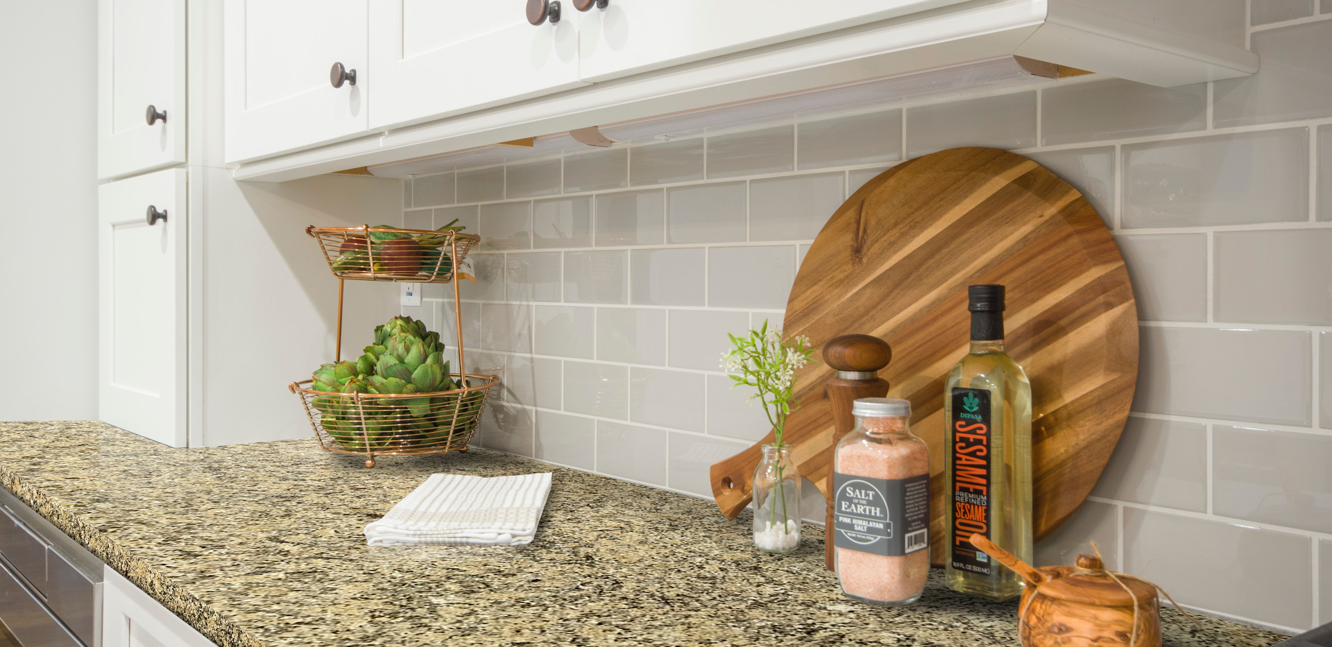 Giallo Napoli granite kitchen countertop