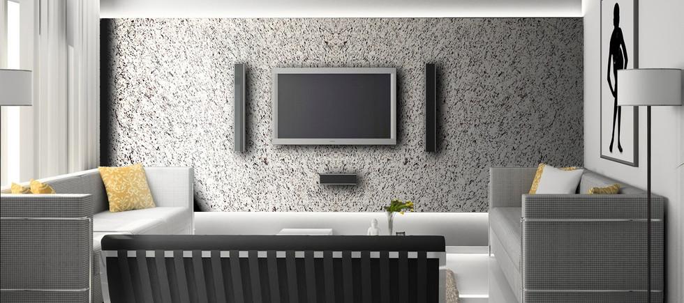 White Napoli Granite Interior Wall