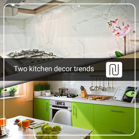 Two kitchen decor trends