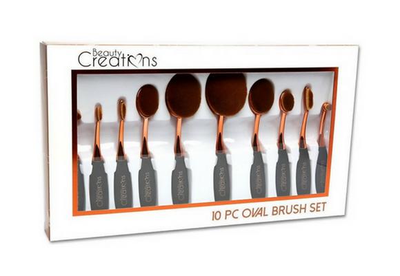 Beauty Creations Oval Brush Set (10 pcs)