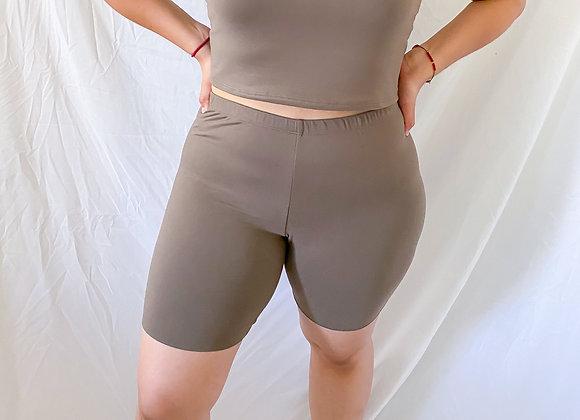 Harper Biker Shorts (Mocha)