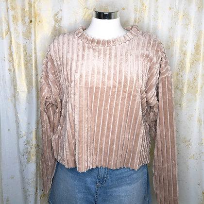 Tan Bibi Crop Sweater