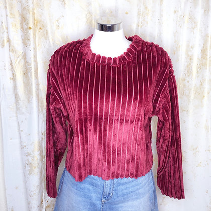 Burgundy Bibi Crop Sweater
