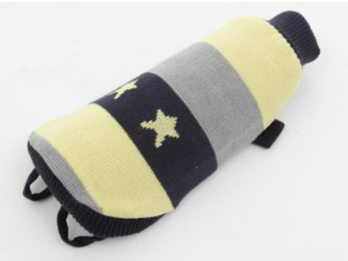 Dog Coat Black, Yellow, Grey stripes with yellow star