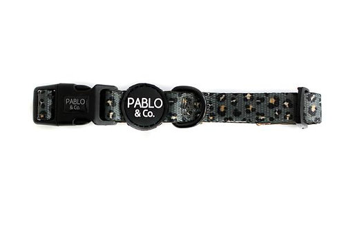 Pablo and Co Dog Collar - Khaki Leopard, Medium