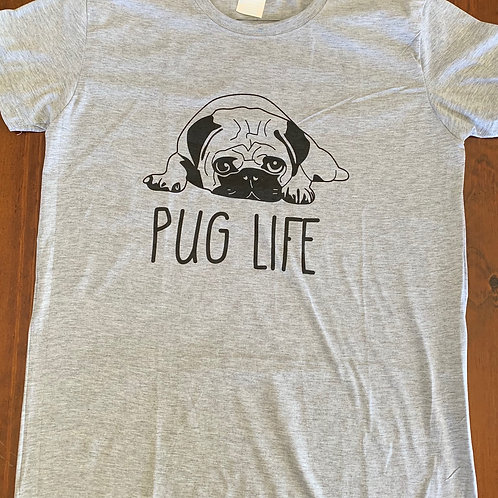 Grey Womens TShirt - Pug Life