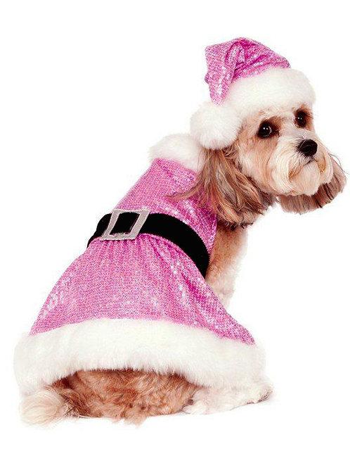 Sequin Mrs Claus Dog Costume